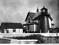 It served as the Mayo Beach Lighthouse in Wellfleet Harbor, MA, from 1881 until 1922.